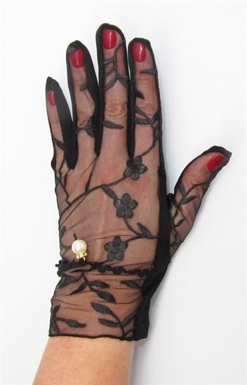 3989. Черные летние перчатки сенсорные - фото 20575