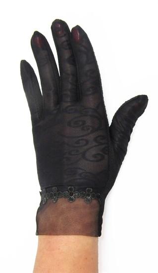 3990. Черные летние перчатки сенсорные - фото 20579