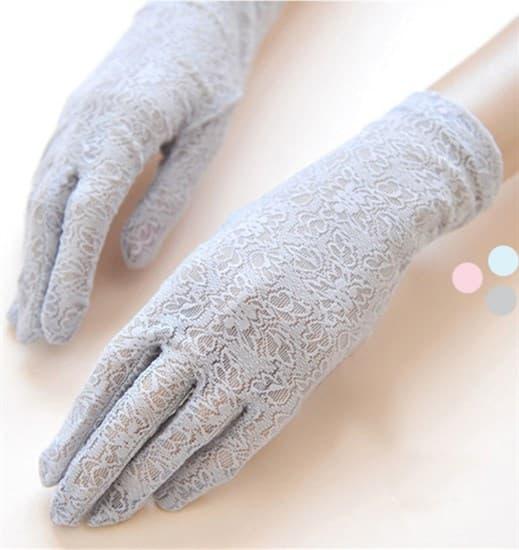 4033. Короткие перчатки из плотного кружева. 3 цвета