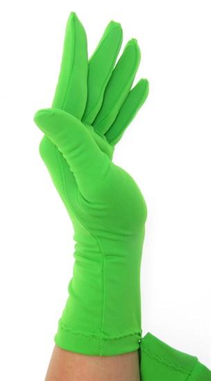 Салатовые летние перчатки трикотаж масло