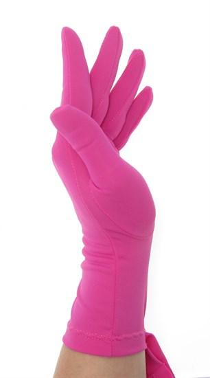 Летние перчатки трикотаж масло. Фуксия - фото 21684