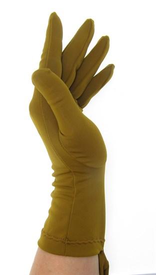 Летние перчатки трикотаж масло. Горчичный