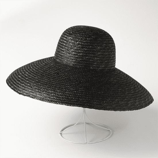 4180. Летняя шляпа с полями в стиле Dior. Черная - фото 22243