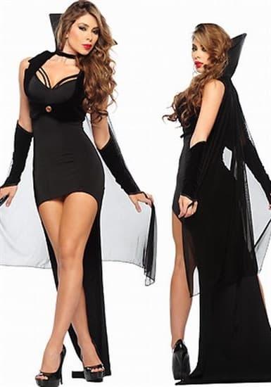 Шикарный костюм королевы ночи - платье и велюровое болеро - фото 5959