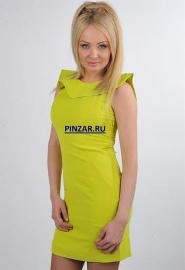 283138e8e4f Желтое неоновое платье с открытой спиной и воланами - фото 6039