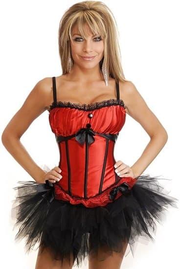 Красный корсет Burlesque с мягким лифом фото