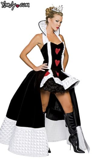 Карнавальный костюм королевы с длинным шлейфом
