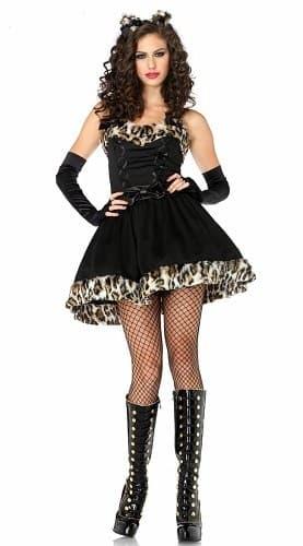 Маскарадный костюм шикарной кошечки с леопардовым мехом - фото 9690