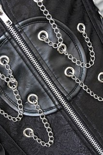Корсет под грудь с цепочками - фото 10354
