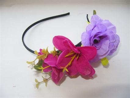 Лиловые цветы на ободке Handmade 2414