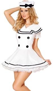 Белое платье морячки