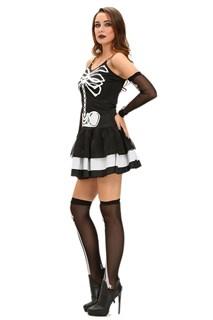 Костюм скелета платье с гетрами и перчатками - фото 11938