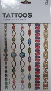 """Металлическое цветное тату """"браслеты с камнями"""" AS-028"""