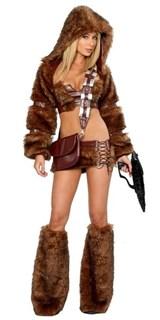 Меховой костюм воительницы