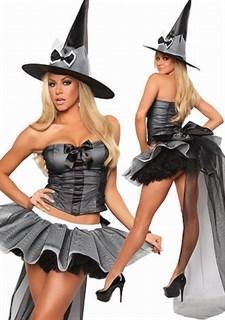 Костюм ведьмы с пышной фатиновой юбкой-пачкой - фото 12078
