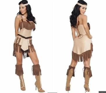 Костюм индейской девушки: топ и юбка - фото 12104