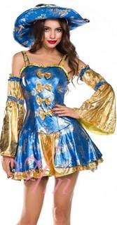 Костюм мушкетера синий с золотом