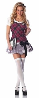 Ролевой костюм школьницы. Нежно-сиреневое платье