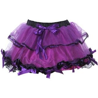 Пышная сиреневая юбка с бантиками