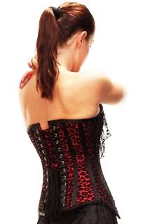 Корсет с красно-черным узором и с болеро - фото 12569