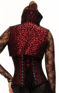 Корсет с красно-черным узором и с болеро - фото 12570