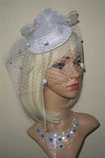 Белая вуалетка Фелисити