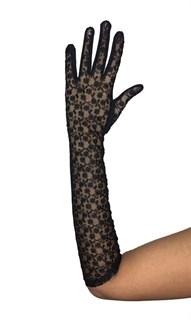 Длинные перчатки из кружева