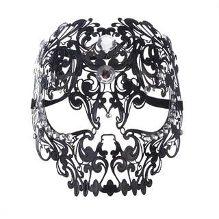 Металлическая черная маска Череп