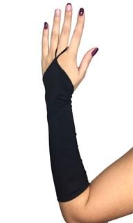 Матовые перчатки  на один палец. Спандекс. Черные