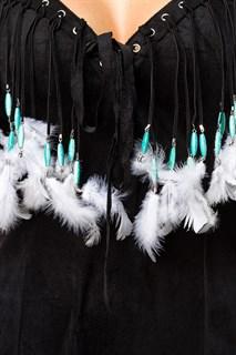 Черный костюм индейской девушки - фото 13589