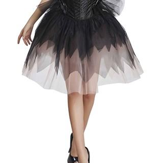 Черно-белая юбка из сетки