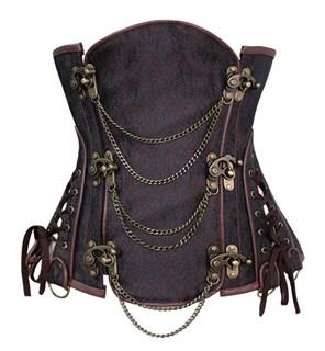 Steampunk Коричневый корсет под грудь