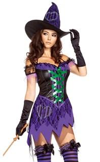 Фиолетовое платье маленькой ведьмы - фото 13670