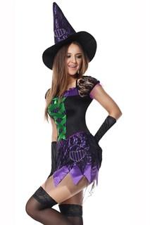 Фиолетовое платье маленькой ведьмы - фото 13672