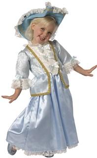 Голубой костюм принцессы для девочки