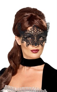 черная кружевная маска фото