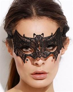 кружевная черная маска летучая мышь фото