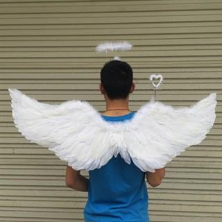 Крылья ангела белые с нимбом