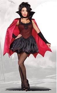 Пышное платье вампирши с плащом