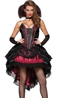 Маскарадный костюм вампира с длинной юбкой