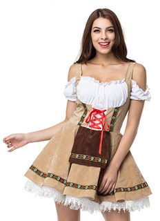 Костюм баварской девушким бежевое - фото 14616