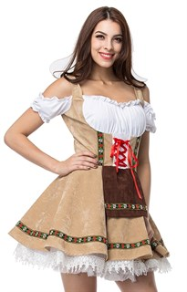 Костюм баварской девушким бежевое - фото 14617