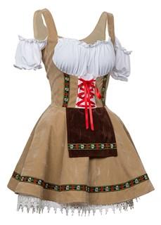 Костюм баварской девушким бежевое - фото 14620