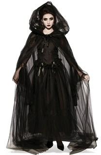 Маскарадный костюм ведьмы с длинной юбкой