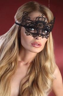 Кружевная маска королевы. Черная