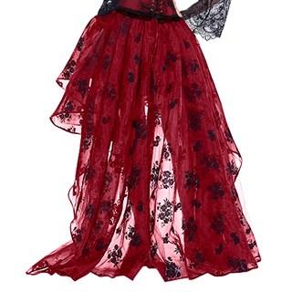 Ассиметричная юбка в пол с напылением. Красная - фото 14771