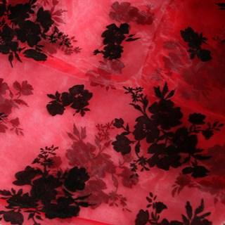 Ассиметричная юбка в пол с напылением. Красная - фото 14773