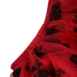 Ассиметричная юбка в пол с напылением. Красная - фото 14774