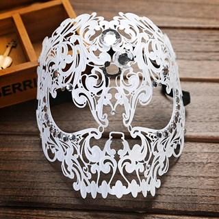 Металлическая маска Череп. Белый
