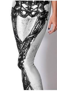 Легинсы для костюма скелета. Белые